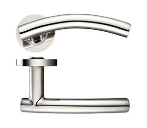 Arched T - Bar Lever on rose Internal door handles sets of 1-20 Stainless Steel