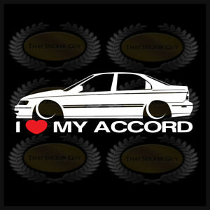 Image Is Loading I Heart My Accord Sticker Love Honda Cd