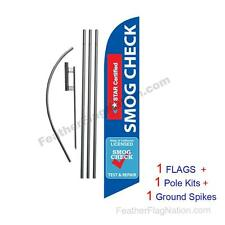 Star Certified Smog Repair 15' Feather Banner Swooper Flag Kit with pole+spike