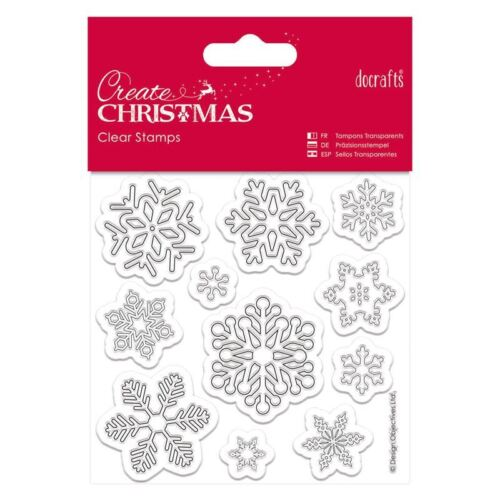 DO-CRAFTS MAGICIAL CHRISTMAS SNOWFLAKES 102MM X 102MM  FOR CARDS /& CRAFT