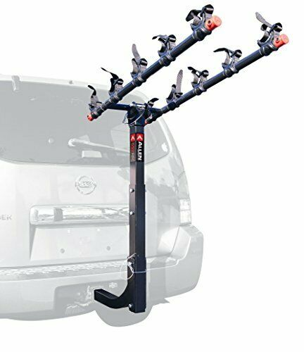 5 Fahrrad Hitch Mount Rack w  28  Long Carry Arms & Tie Down Straps for 2  Receiver