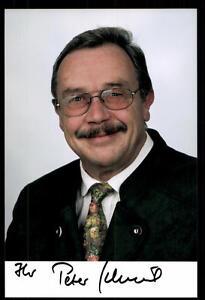 Politik Peter Schmid Foto Original Signiert ## Bc 41638 Kunden Zuerst Original, Nicht Zertifiziert