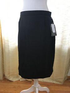 Briggs New York Women's Black Slimming Solution Slim Fit Career Skirt Sz 12 Nwt Carefully Selected Materials