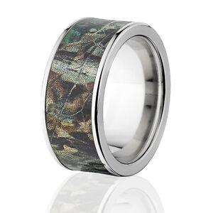 Licensed Realtree Advantage Timber Titanium Camo Rings Camo Wedding Bands