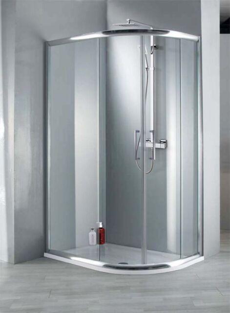 Elite 1200mm X 900mm Framed Offset Quadrant Shower Enclosure 8mm