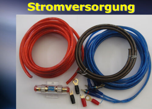 Boa 82010-10qm kabelset para fases finales explotación KFZ juego de cables para amplificadores