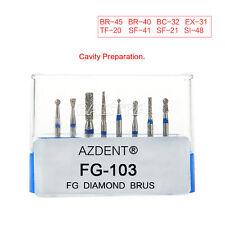 20X 8Pcs AZDental High Speed Diamond Burs Drill Composite Polishing Kit FG-103