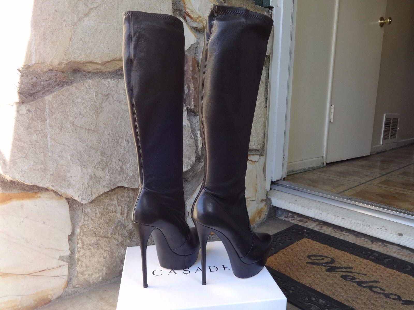 elementi di novità Casadei Skyhigh  Platform stivali  nero    Leather EU Dimensione 8  ordina ora con grande sconto e consegna gratuita
