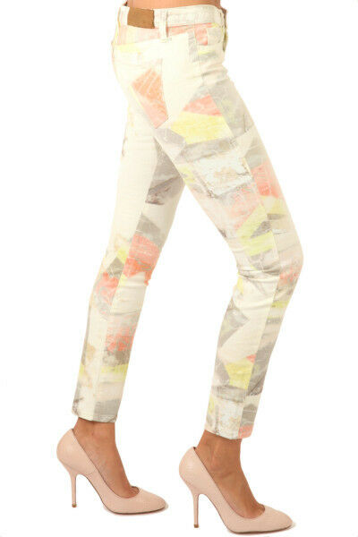 IRO Pink Multicolor Printed Skinny Jeans     325  size 29