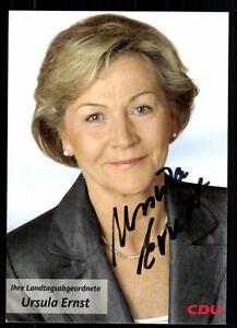 Politik, Adel & Militär Ursula Ernst Autogrammkarte Original Signiert ## 37366 Nachfrage üBer Dem Angebot Original, Nicht Zertifiziert