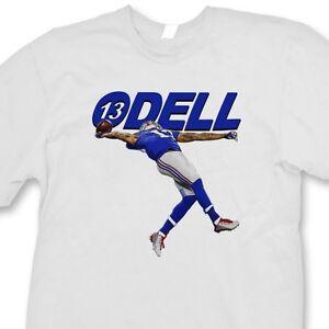 official photos 062d6 52a0b Details about ODELL #13 Beckham Jr. The Catch T-shirt jersey NY Giants Tee  Shirt
