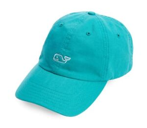 Vineyard Vines Front Whale Logo Baseball Hat Cap  28 Fjord Green ... e8f9fd36a40c