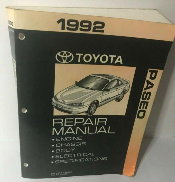 1992 Toyota Paseo Service Shop Repair Workshop Manual Set