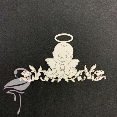 chipboard 1.5mm Two Layered Baby Angel Boy 143 x 93mm