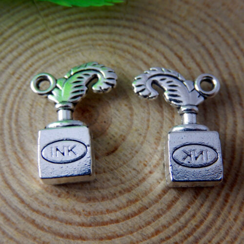 20x14x5mm Vintage Silver Alloy Ink Box Craft Pendant Charm Jewelry Findings 20x