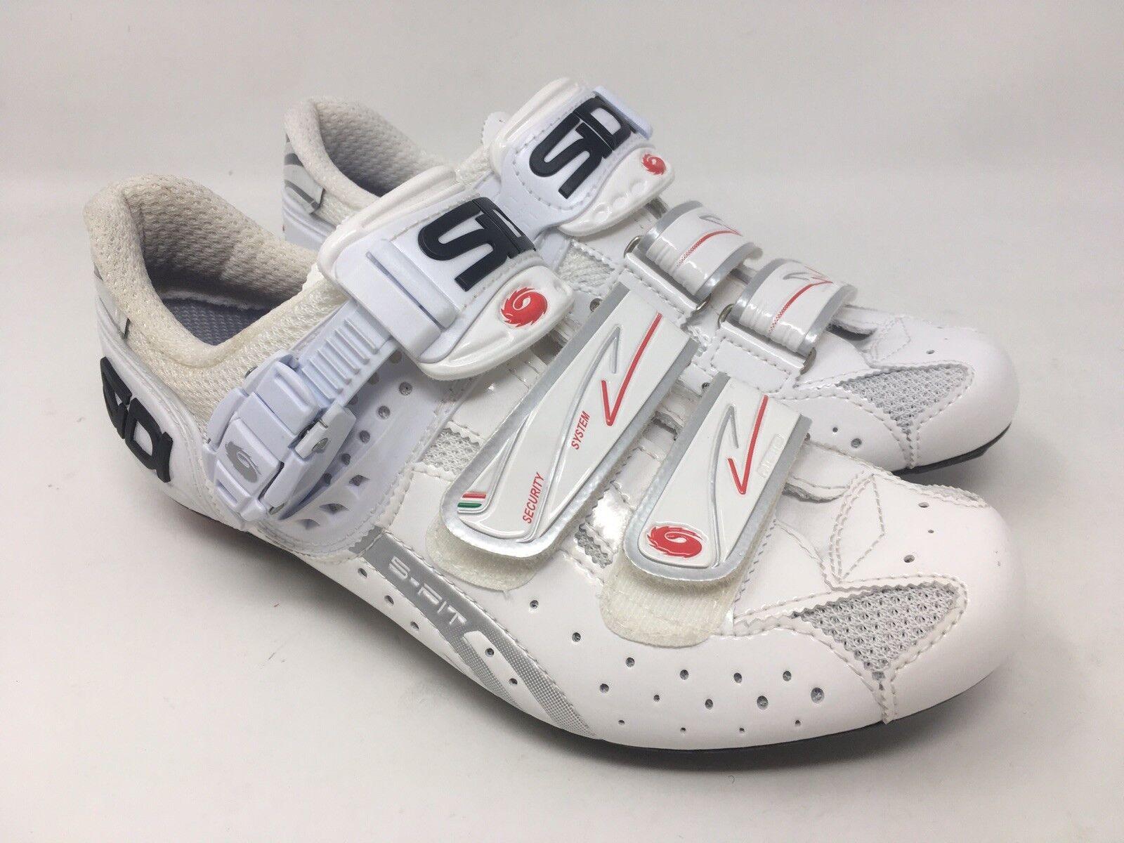 NEW IN IN NEW BOX SIDI GENIUS FIT  Damenschuhe Road Cycling Schuhes EU 39 /US 7 Weiß e06c7c