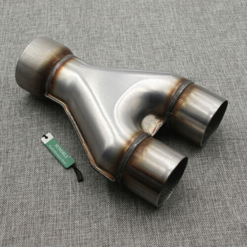 """Universal Stainless Steel Exhaust Y-Pipe Piece Adapter 3/"""" Single /& 2.5/"""" Dual"""