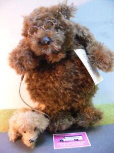 Hc186 Hermann Coburg Teddy Max avec un chien ours d'artiste de 31 cm