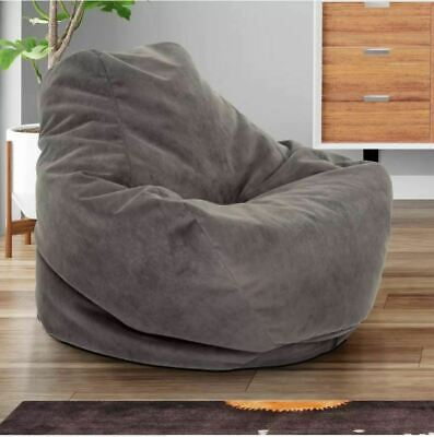 Cool Bean Bag Comfy Chair Dorm Teen Kids Room Lounger Large Big Foam Microfiber Mocha Ebay Alphanode Cool Chair Designs And Ideas Alphanodeonline