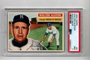 1956-TOPPS-Baseball-8-WALTER-ALSTON-WB-Great-Color-amp-Focus-PSA-7-NM