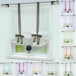 Details zu Raffrollo Modern Raffgardinen Küche Gardinen Wohnzimmer  Bindegardine Transparent