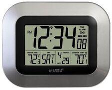 Atomic Digital Wall Clock Wireless Outdoor Indoor Temperature Sensor Monitor