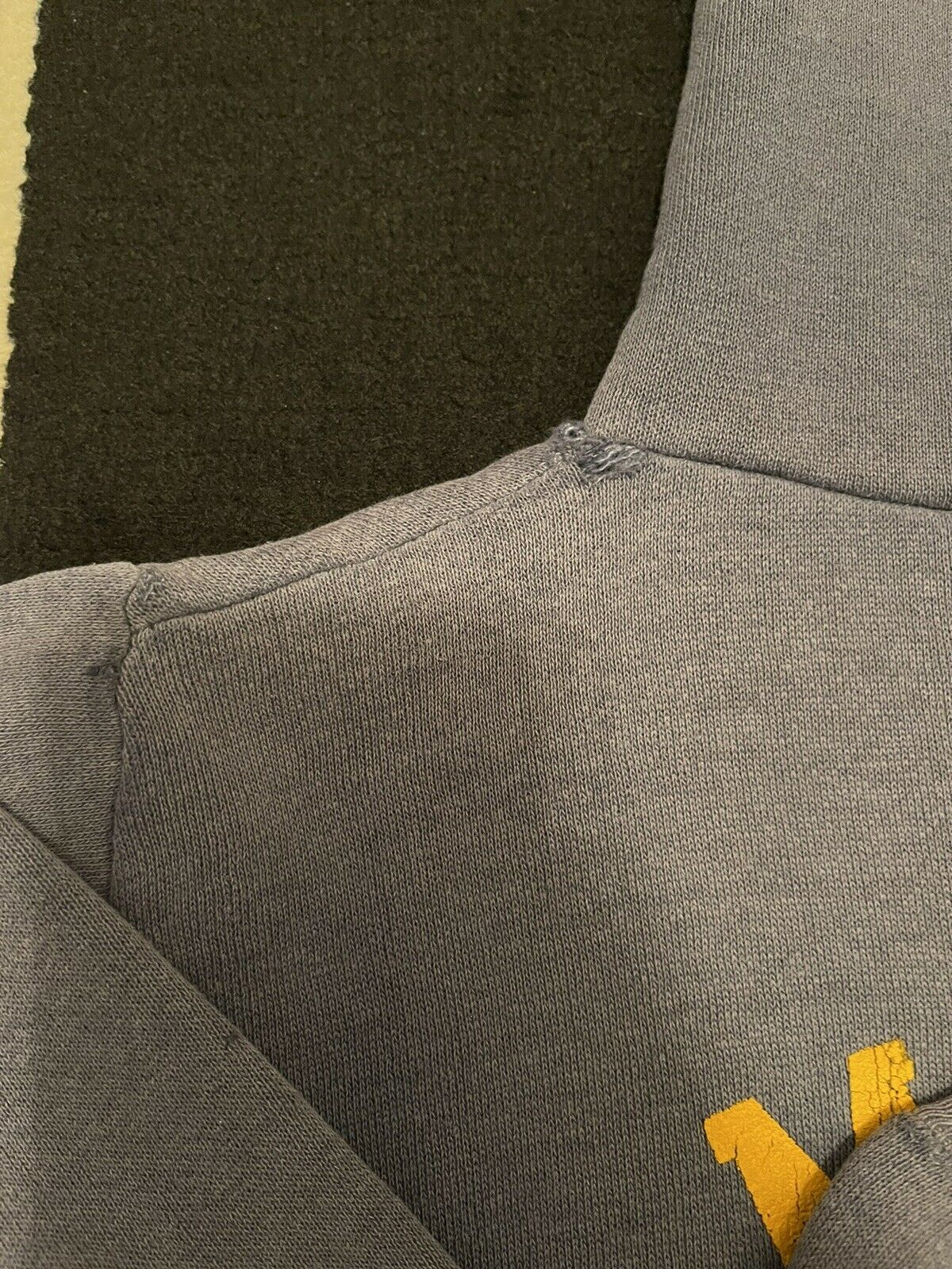 VTG 70s Sun Faded Russell Gold Tag M Hoodie Sweat… - image 11