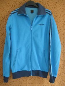 Veste Adidas Originals bleu ciel Jacket Homme style vintage - S