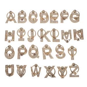 Diamond-metal-letter-finger-ring-smartphone-stand-holder-mobile-phone-hol-D-N