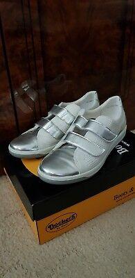 Salamander Sneaker Schuhe Gr. 42 weiß mit Silber, wie neu