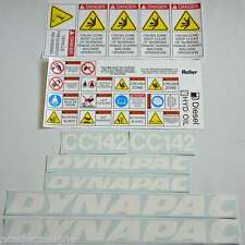 Dynapac CC142 Roller Decals Stickers Kit Vibrating Roller