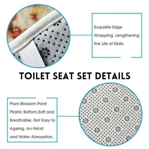 4 Stück Get Naked Duschvorhang Badematte Toilettenbezug Badezimmer Wasserdicht