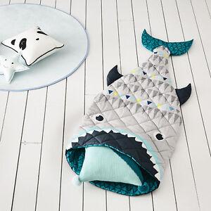 NEW-Adairs-Kids-Sleeping-Bag-140cm-Shark-Tail