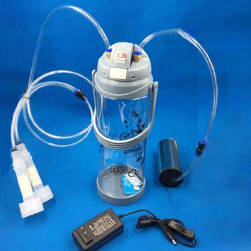 3L//0.8Gal Electric Barrel Machine Goat Milker Portable Vacuum Pump Bucket d