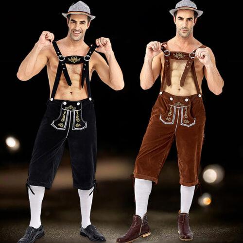 Men/'s Oktoberfest Adults German Bavarian Lederhosen Beer Octoberfest Bib Pants
