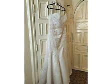 Plus Size Davids Bridal Ivory Wedding Dress Trumpet Style Size 18W