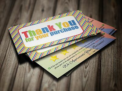 ebay Seller THANK YOU Business Cards 5 FIVE STAR Feedback 100 COLORFUL Fun Cards