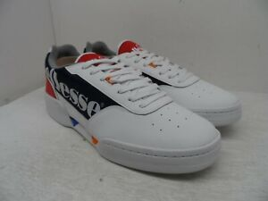 Ellesse-Men-039-s-Piacentino-2-0-Casual-Sneakers-White-Red-Navy-Leather-Size-11-5M