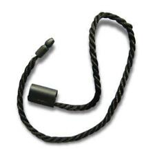 """7"""" 200 Pc BLACK Hang Tag Nylon String Snap Lock Pin Loop Fastener Hook Ties"""
