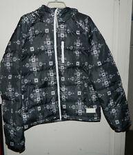 New Men Adidas Originals 3 Stripes Puffer Short Down Jacket Winter Hooded Size M