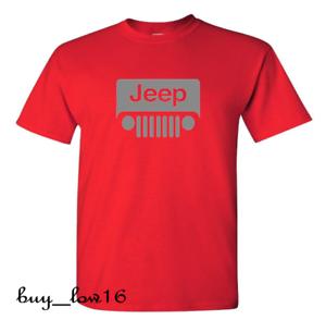 FREE SHIPPING Jeep Wrangler Grey Logo Black T-Shirt S-2XL