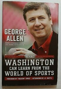 What Washington Can Learn from sports Signed by George Allen Autograph Book