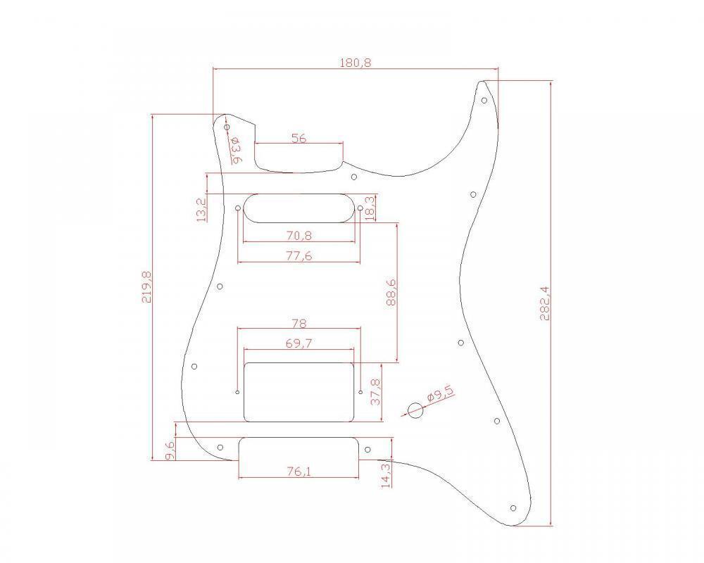aged white guitar pickguard hs humbucker single 3 ply for fender strat parts 634458544757 ebay. Black Bedroom Furniture Sets. Home Design Ideas