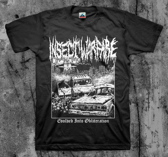 INSECT WARFARE 'Evolved' T Shirt Nasum Phobia Napalm