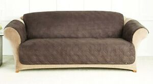 Charmant Image Is Loading QUILTED MICROFIBER SOFA COVER CHAIR THROW PET DOG