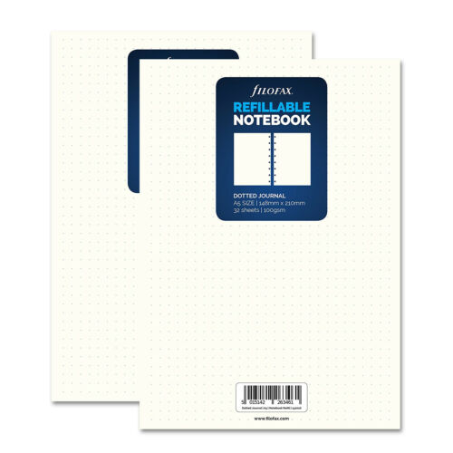 """Dotted Paper 152016 x 2 Filofax A5 Size /""""Notebook/"""" Paper Refill Insert"""