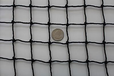 "Golf Hearty 20' X 15' Black Square Nylon Lacrosse Impact Netting 1 1/2"" #30 Hockey Net"