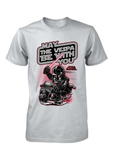 BNWT STAR RACER MAY THE VESPA BE WITH YOU CARTOON RIDER KIDS T SHIRT 3-15 YEARS