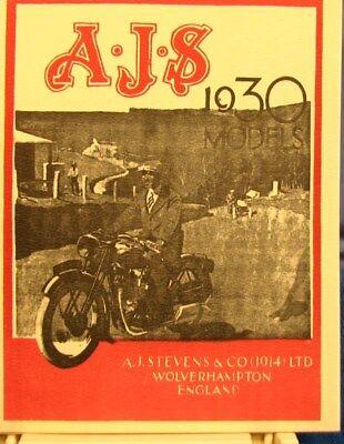 1930 A J S Motor Cycle Modello Anno Sales Libro W/ Immagini E Specs. Su Tutti Prezzo Basso