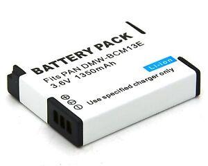 BATTERIA 2x per Panasonic Lumix bcm13 dmc-tz41 dmc-zs30 dmc-ft5 dmc-ts5 dmc-tz40